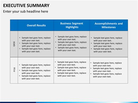 executive summary powerpoint template executive summary