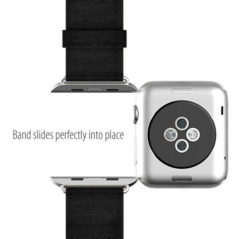 Monochrome Leather Band For Apple 38mm 10 apple black replacement band with monochrome
