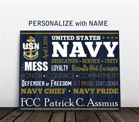 Us Navy Decor by Personalized Navy Sign Us Navy Gifts Navy By Jesspoutredesigns