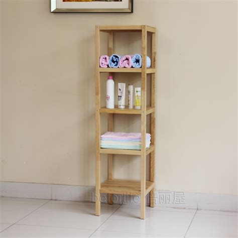 Bathroom Rack Shelf by Clapboard Wood Shelving Storage Rack Shelf Bathroom Shelf