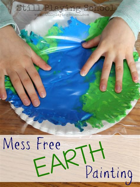 earth crafts for no mess painting in a bag earth craft still school