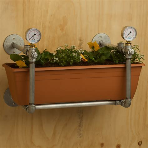 Wall Mounted Planter Box by Plumbing Pipe Wall Mounted Garden Bed