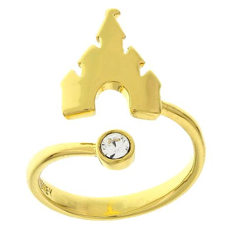 your wdw store disney ring castle adjustable gold tone