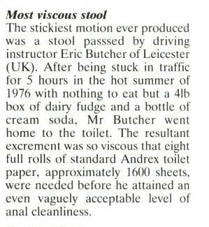 Viscous Stool the sexist book of records archives viz
