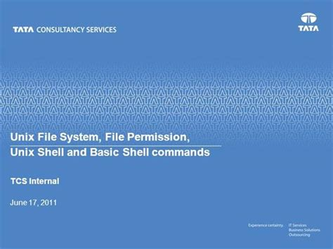 unix tutorial powerpoint session 2 unix file system and unix shell v1 0 1