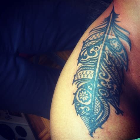 tribal feather tattoos best 25 tribal feather tattoos ideas on