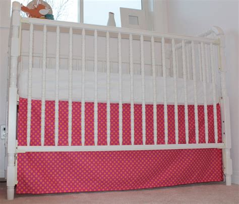 Crib Skirt by Two Loonies And A Diy Crib Skirt