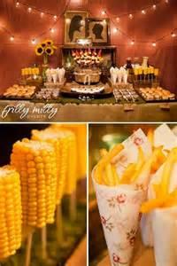 barn wedding the food