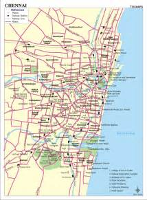 chennai map india