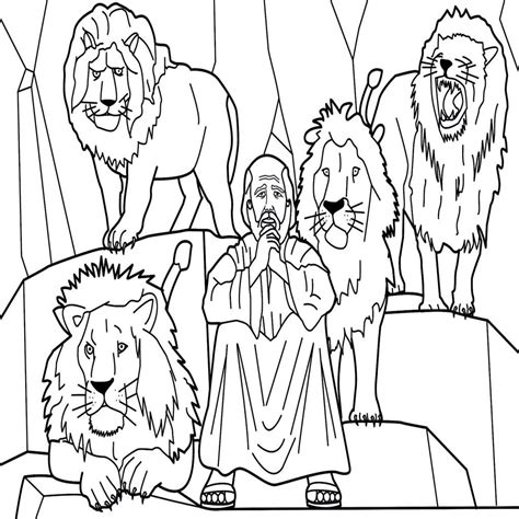 daniel and the lions den coloring page daniel in the lions den coloring page volamtuoitho