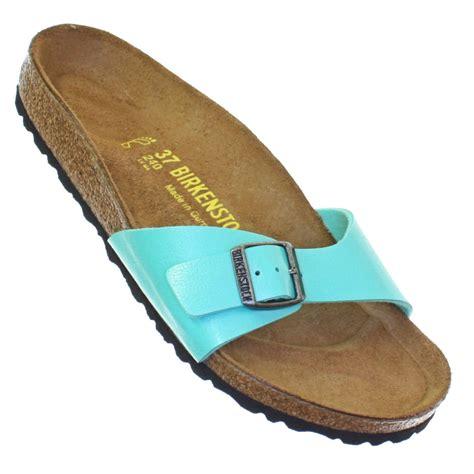 mint green sandals womens birkenstock madrid mint green footbed cork