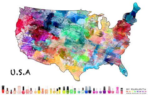 design art usa world map art designs with nail polish