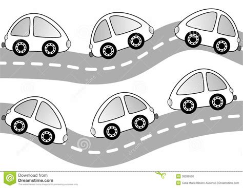 Coloring Page Road by Cars On The Road Coloring Page Stock Photo Image 38289550
