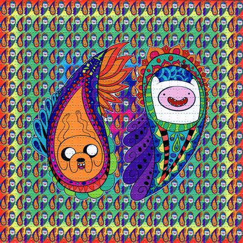 Acid Free Craft Paper - paisley adventure time blotter perforated sheet