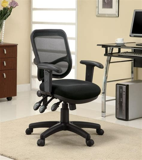 home office chair with black mesh back coaster furniture