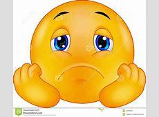Emoticon Sorridente Triste Del Fumetto Illustrazione ... Heartbroken Emoji