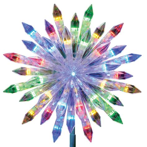 led christmas tree multi color changing topper shop ge 12 in pre lit color changing led plastic starburst clear tree topper at lowes