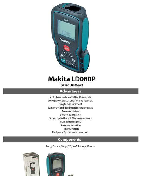 Laser Meteran Digital Makita Ld080pi makita ld080p laser distance measurer minimum and maximum measurements ebay