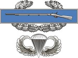 cib combat infantry badge with army jump wings die cut 5 5