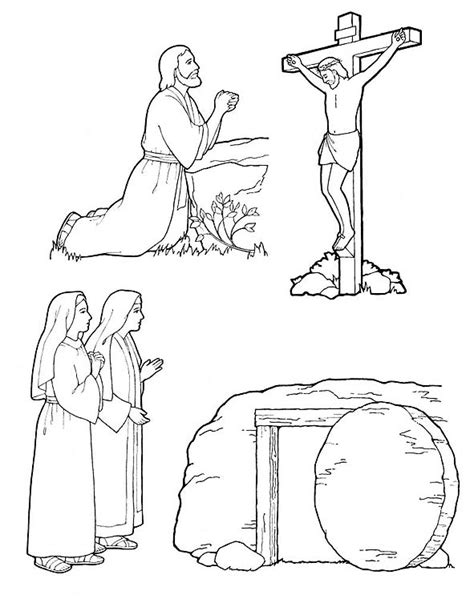 coloring pages jesus death and resurrection coloring pages lds lesson ideas page 2