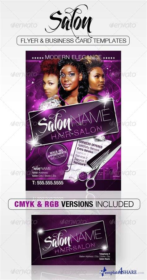 Graphicriver Salon Flyer And Business Card Templates 187 Templates4share Com Free Web Templates Salon Flyer Templates Free