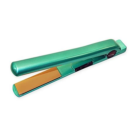 bed bath and beyond flatiron chi air 1 inch ceramic hair styling flat iron in teal