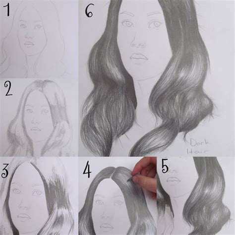 step by step hairstyles to draw drawing dark hair step by step by artfreaka on deviantart