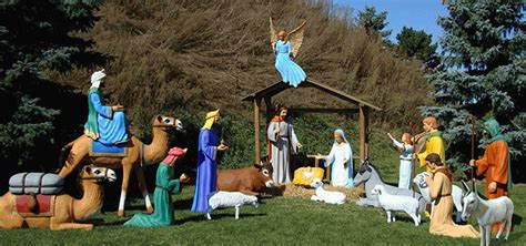 manger for sale size fiberglass nativity figures all american