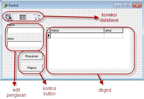 Pemrograman Database Dengan Delphi 7 Menggunakan Access Ado digital world menambah dan menghapus record database