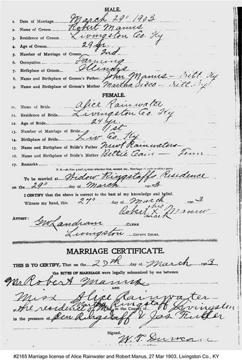Fulton County Marriage Records Rainwater Marriage Records