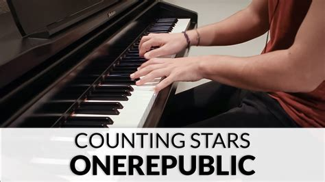 counting stars keyboard tutorial easy onerepublic counting stars piano cover youtube