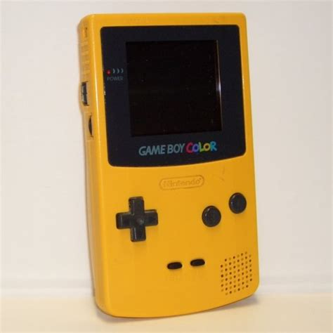 yellow gameboy color boy color yellow cgb 001 1998