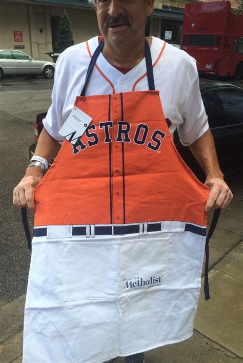 Houston Astros Giveaways - june 14 2015 houston astros vs seattle mariners grilling apron