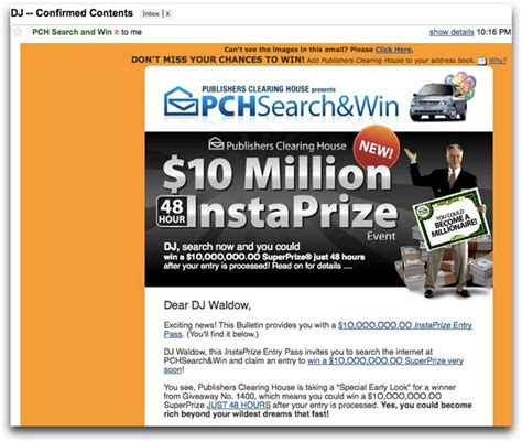 Does Pch Email Winners - trade intelligence gain valuable business insights from our searchable database of
