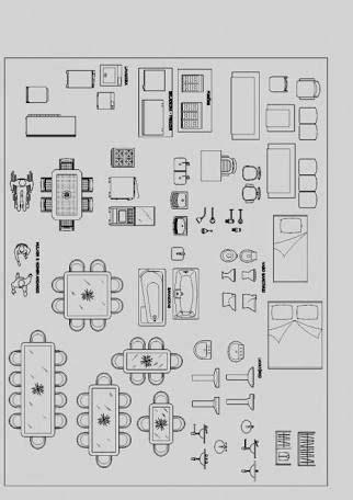Furniture Symbols For Floor Plans Pdf 1 4 To 1