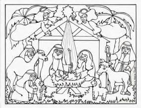 christmas nativity scene coloring pages coloring pages