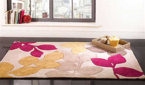 tappeti fucsia tappeto handtufted infinite stencil leaf fuchsia