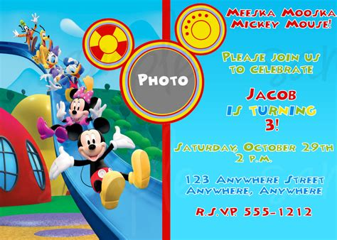 mickey mouse clubhouse templates 40th birthday ideas free birthday invitation templates