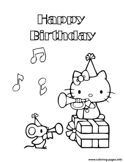 coloring pages free printable hello kitty party cards hello kitty happy birthday coloring pages printable