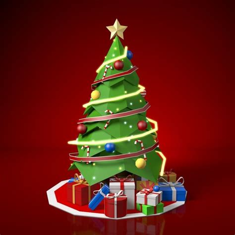 model  poly christmas tree cgtrader