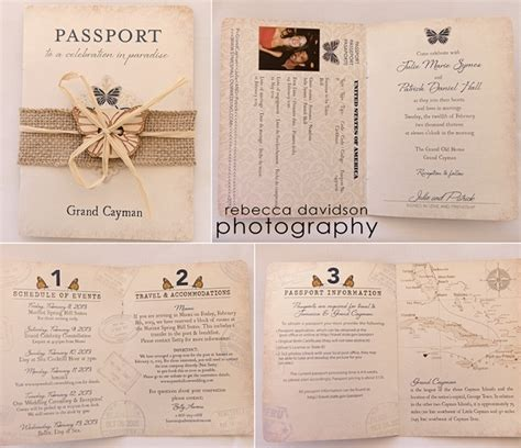 Recycled Home Decor Ideas by Passport Wedding Invitation Michelle James Designs