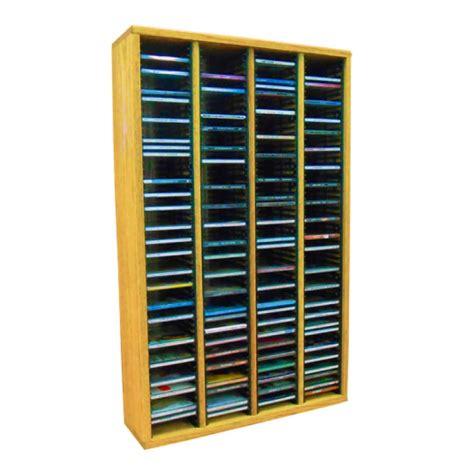 Solid Wood Cd Rack by Wood Shed Solid Oak Cd Rack 240 Cd Capacity Tws 409 3