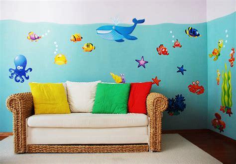 Kinderzimmer Gestalten Fische by Riesige Wandaufkleber Wandsticker Set Wandtattoo
