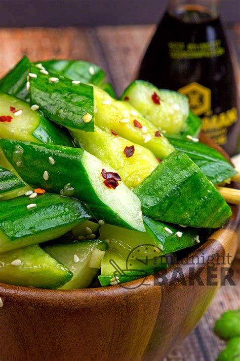 asian cucumber salad  midnight baker