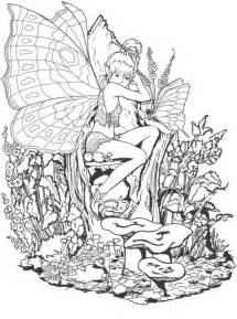 free coloring pages of fantasy girls