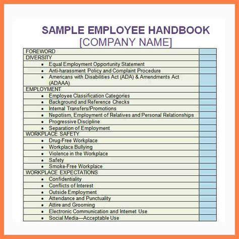 6 company handbook template company letterhead