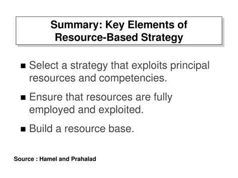 The Key Elements Of Great Resources by Ppt Resource Capabilities Competencies And