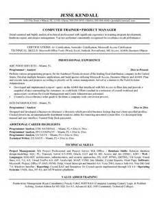 Resume Sample For Programmer Sample Resume Format Programmer Resume Template