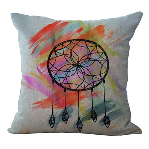 dreamcatcher sofa bed catcher printed linen cotton cushion cover pillow