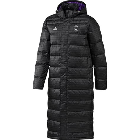 Jaket Parka Tipe A Real Madrid Black adidas mens gents football soccer real madrid